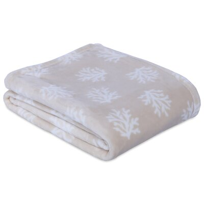 Coral Printed Throw Color: Taupe
