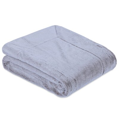 Frosted Grace Fashion Fur Throw