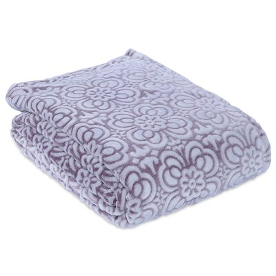 Garden Mosaic Plush Blanket Size: King, Color: Mobile