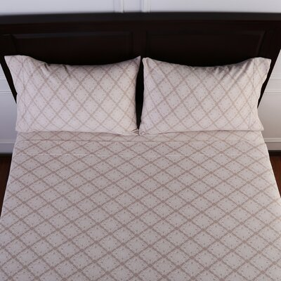 Lovely Lace Printed Microfleece Sheet Set Size: Twin