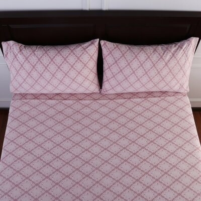 Lovely Lace Printed Microfleece Sheet Set Size: Full