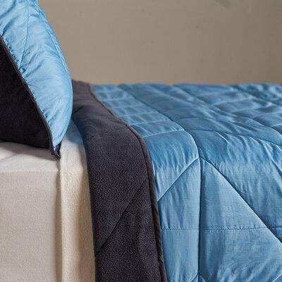 Polartec� Reversible Comforter Set Size: King, Color: Deep Sea