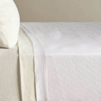 Diamond Knit Quilted Cotton Blanket Size: Full/Queen, Color: White