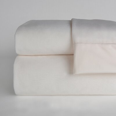 UltraLight� Brushed Cotton 4 Piece Sheet Set Size: Twin, Color: Cream
