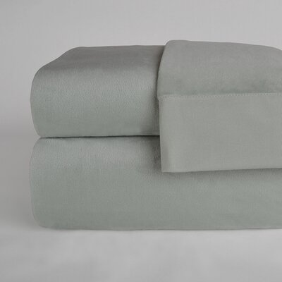 UltraLight� Brushed Cotton 4 Piece Sheet Set Color: Silver Sage, Size: Full