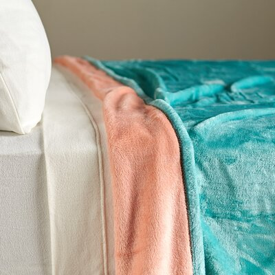 VelvetLoft� Dual-Color Reversible Blanket Size: King, Color: Menthol