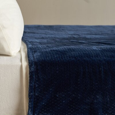 Dobby VelvetLoft Blanket Size: Twin, Color: Navy