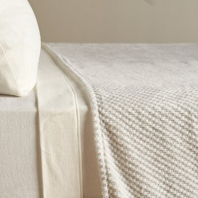 VelvetLoft� Textured Check Polyester Blanket Size: King, Color: Winter Sky