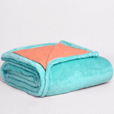 VelvetLoft� Dual-Color Reversible Throw Color: Menthol