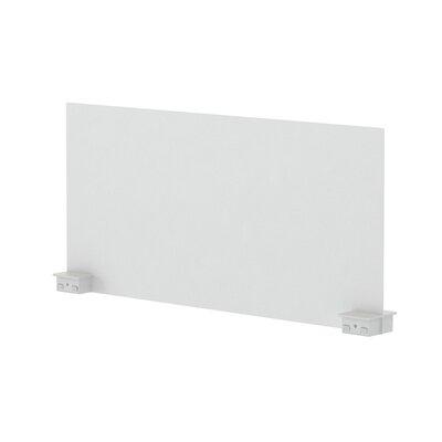 Bivi 14.25 H x 30 W Desk Privacy Panel Finish: Arctic White (4140), Plastic Finish: Arctic White (6009)