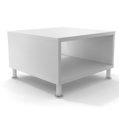 Turnstone by Steelcase� Jenny� Coffee Table Base Finish: Brushed Aluminum, Top Finish: Arctic White