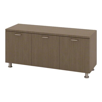 Currency Credenza Laminate Color: Arctic White, Pull Style: Ledge Pull-Platinum Product Photo 173