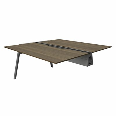 Bivi 28.5 H Desk Bridge Tabletop Finish: Blackwood, Base Finish: Midnight Metallic, Size: 30 x 48