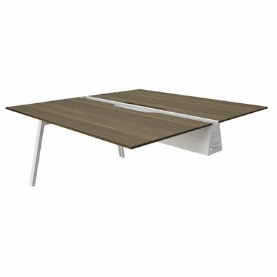 Bivi 28.5 H Desk Bridge Tabletop Finish: Blackwood, Base Finish: Arctic White, Size: 30 x 48