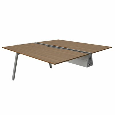 Bivi 28.5 H Desk Bridge Tabletop Finish: Clear Walnut, Base Finish: Platinum Metallic, Size: 30 x 48