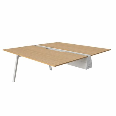 Bivi 28.5 H Desk Bridge Tabletop Finish: Warm Oak, Base Finish: Arctic White, Size: 30 x 48
