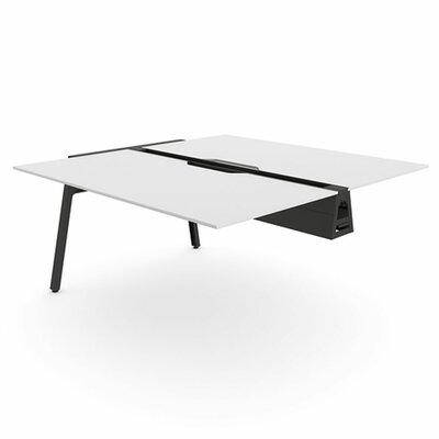 Bivi 28.5 H Desk Bridge Tabletop Finish: Arctic White, Base Finish: Midnight Metallic, Size: 30 x 48