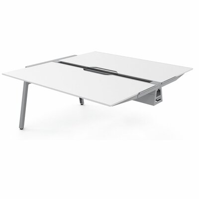 Bivi 28.5 H Desk Bridge Tabletop Finish: Arctic White, Base Finish: Platinum Metallic, Size: 30 x 48