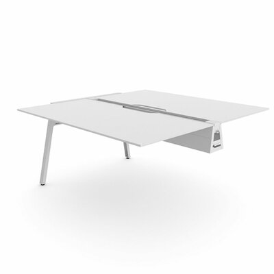 Bivi 28.5 H Desk Bridge Tabletop Finish: Arctic White, Base Finish: Arctic White, Size: 30 x 48