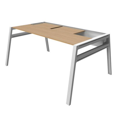 Bivi Training Table for One with Back Pocket Base Finish: Arctic White, Top Laminate Finish: Warm Oa Product Picture 1030
