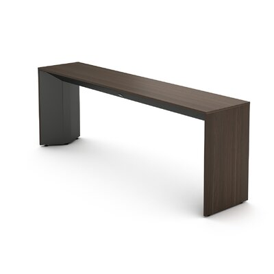 Campfire Slim Console Table Finish: Midnight Metallic, Laminate Finish: Blackwood