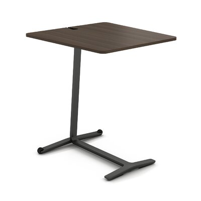 Campfire Skate End Table Color: Midnight Metallic, Laminate Color: Blackwood