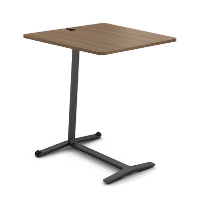 Campfire Skate End Table Laminate Finish: Virginia Walnut, Finish: Midnight Metallic