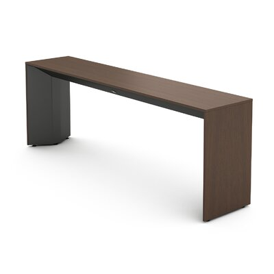 Campfire Slim Console Table Finish: Midnight Metallic, Laminate Finish: Clear Walnut