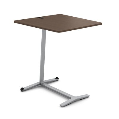 Campfire Skate End Table Color: Platinum Metallic, Laminate Color: Clear Walnut
