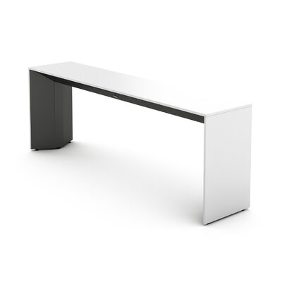 Campfire Slim Console Table Finish: Midnight Metallic, Laminate Finish: Arctic White