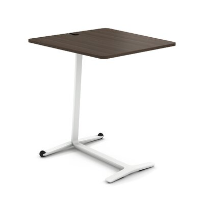 Campfire Skate End Table Color: Arctic White, Laminate Color: Blackwood