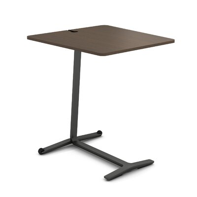 Campfire Skate End Table Color: Midnight Metallic, Laminate Color: Clear Walnut