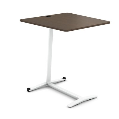 Campfire Skate End Table Color: Arctic White, Laminate Color: Clear Walnut