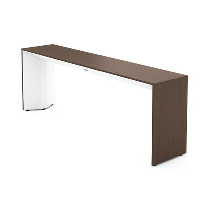 Campfire Slim Console Table Finish: Arctic White, Laminate Finish: Clear Walnut
