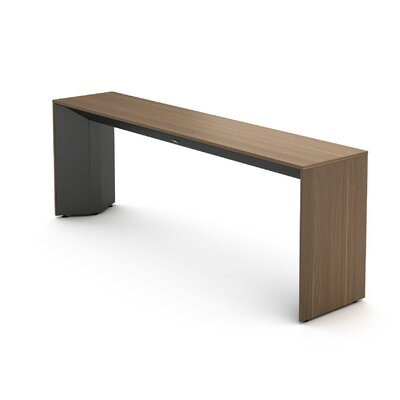 Campfire Slim Console Table Laminate Finish: Virginia Walnut, Finish: Midnight Metallic