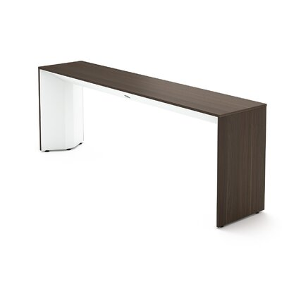 Campfire Slim Console Table Finish: Arctic White, Laminate Finish: Blackwood