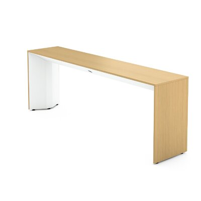 Campfire Slim Console Table Finish: Arctic White, Laminate Finish: Warm Oak
