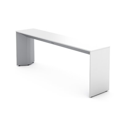 Campfire Slim Console Table Finish: Platinum Metallic, Laminate Finish: Arctic White