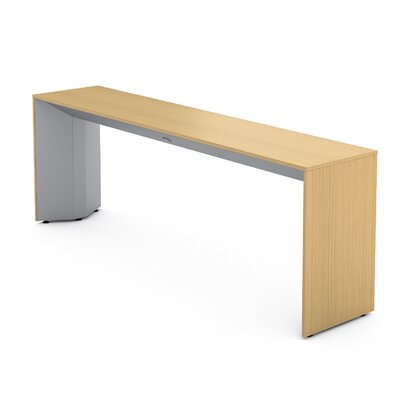 Campfire Slim Console Table Finish: Platinum Metallic, Laminate Finish: Warm Oak