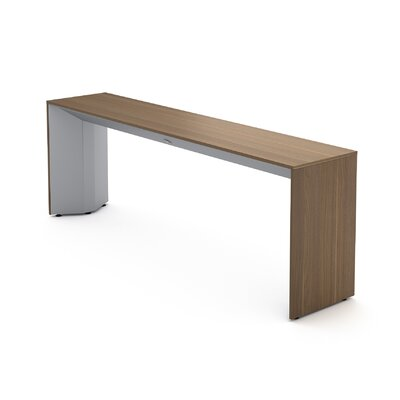 Campfire Slim Console Table Laminate Finish: Virginia Walnut, Finish: Platinum Metallic