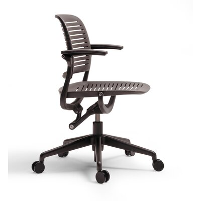 Steelcase Cachet Swivel-Base Work Chair - Casters/Glides: Hard Floor Casters Fabric Options: Seat Fabric Only Fabric Color: Buzz2 - Red