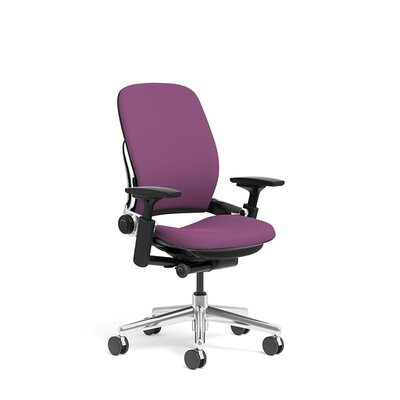 Leap?Leap Fabric Office Chair with Polished Aluminum Frame Product Picture 4