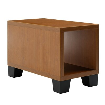 Jenny� End Table Laminate Color: Low Pressure Laminate - Marbled Cherry, Leg Type, Color: Black Plastic
