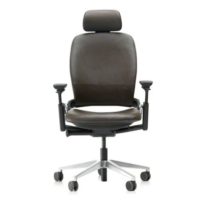 Affordable High Back Leather Desk Chair Product Photo
