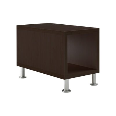 Jenny� End Table Laminate Color: True Performance Laminate - Black, Leg Type, Color: Brushed Aluminum