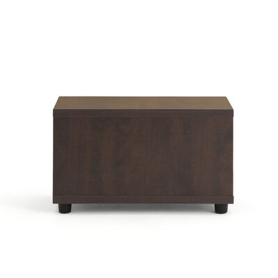 Jenny� End Table Laminate Color: Low Pressure Laminate - Chocolate Walnut, Leg Type, Color: Black Plastic