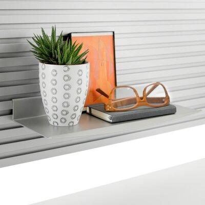 Slatwall Personal Shelf Finish Color: Pewter