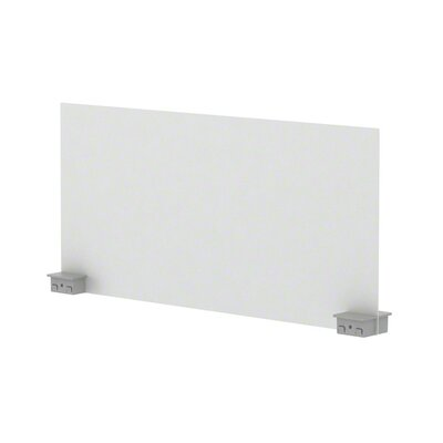 Bivi 14.25 H x 30 W Desk Privacy Panel Plastic Finish: Arctic White Gloss (4140), Finish: Platinum Metallic (4799)