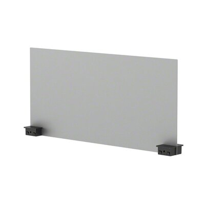 Bivi 14.25 H x 30 W Desk Privacy Panel Finish: Platinum Metallic (4799), Plastic Finish: Midnight Metallic (6695)