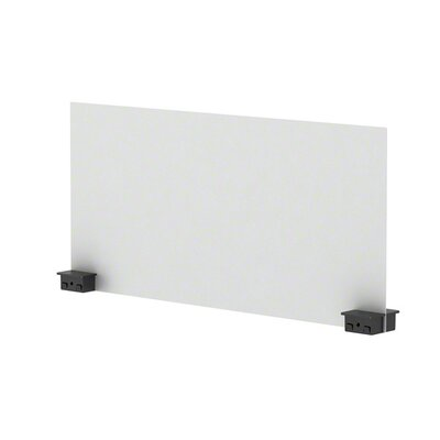 Bivi 14.25 H x 30 W Desk Privacy Panel Finish: Arctic White (4140), Plastic Finish: Midnight Metallic (6695)